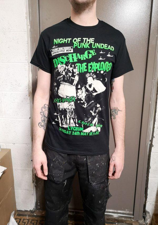 Apocalypse Now Tour 1981 – Exploited Discharge Anti-Pasti Chron Gen T Shirt