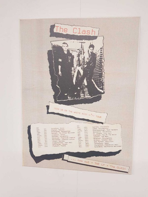 The Clash – White Riot '77 Tour Advert Canvas