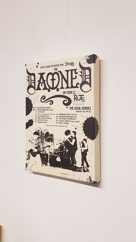 The Damned – '79 Tour Advert Canvas