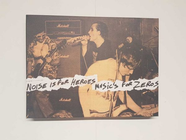 The Damned – Noise is for Heroes, Music's for Zeros Canvas