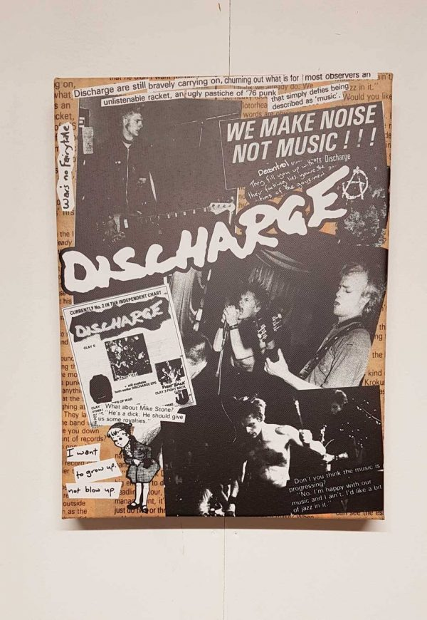 Discharge – Collage Canvas
