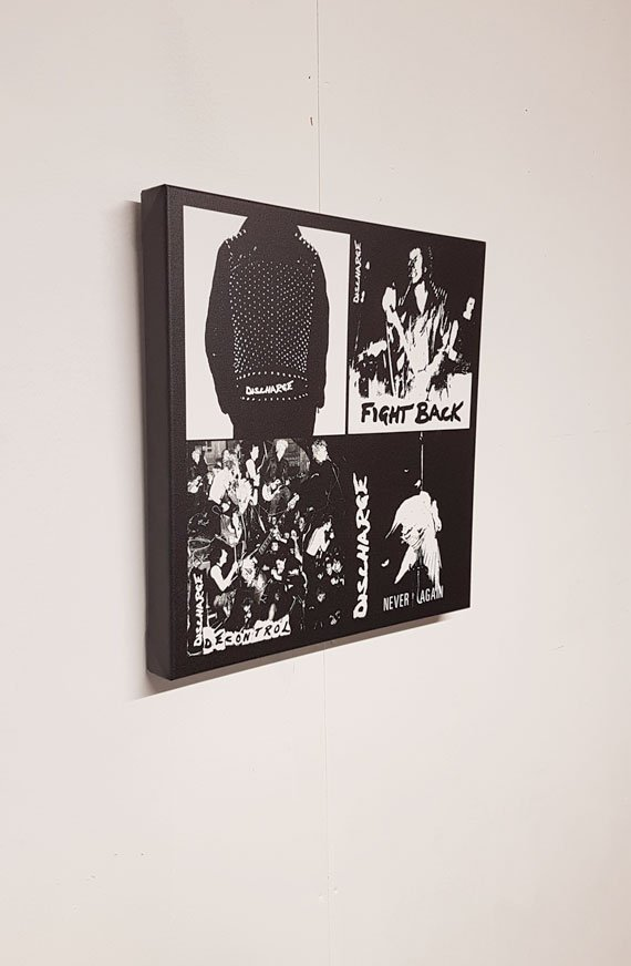 Discharge – First Four Singles Canvas
