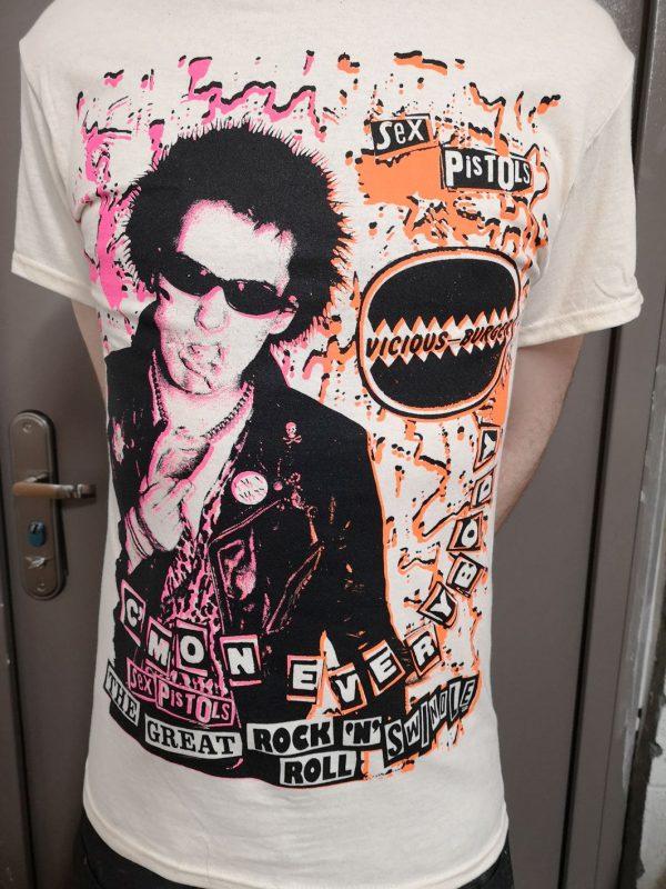 Sid Vicious, Sex Pistols – C'Mon Everybody Advert T Shirt