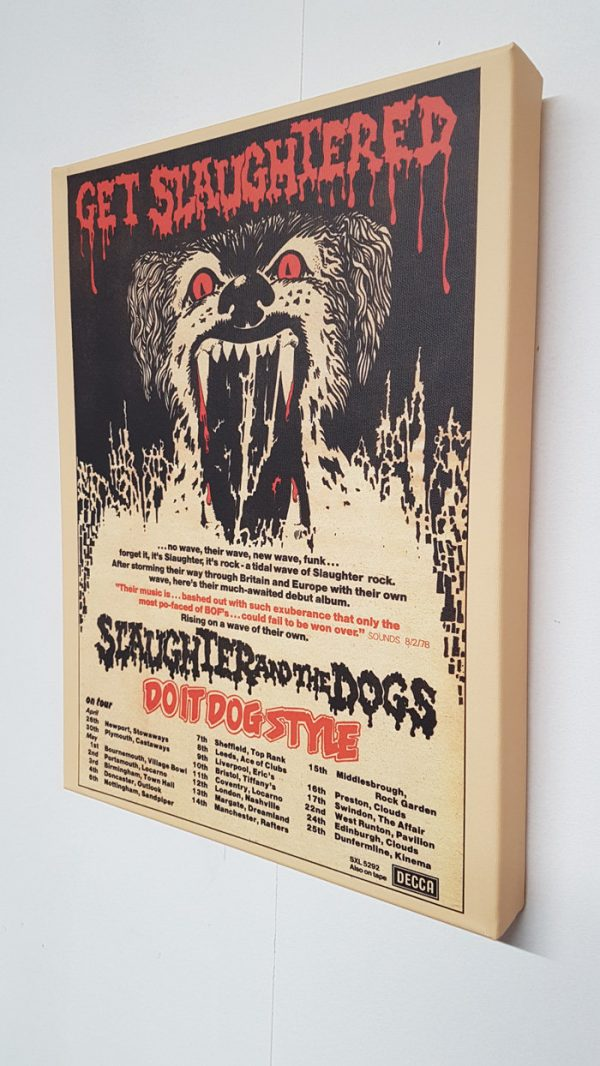 Slaughter and the Dogs – Do It Dog Style Canvas
