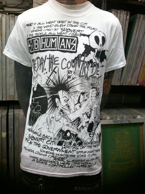 Subhumans – Day the Country Died White T Shirt