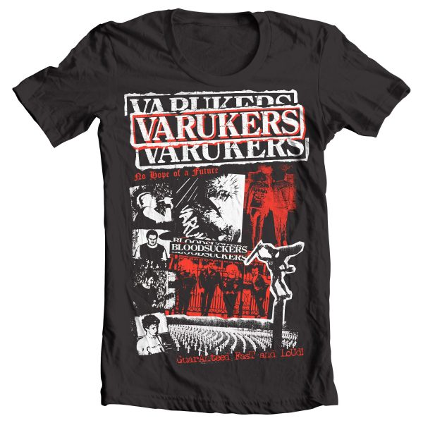 Varukers – Early Years Collage T Shirt