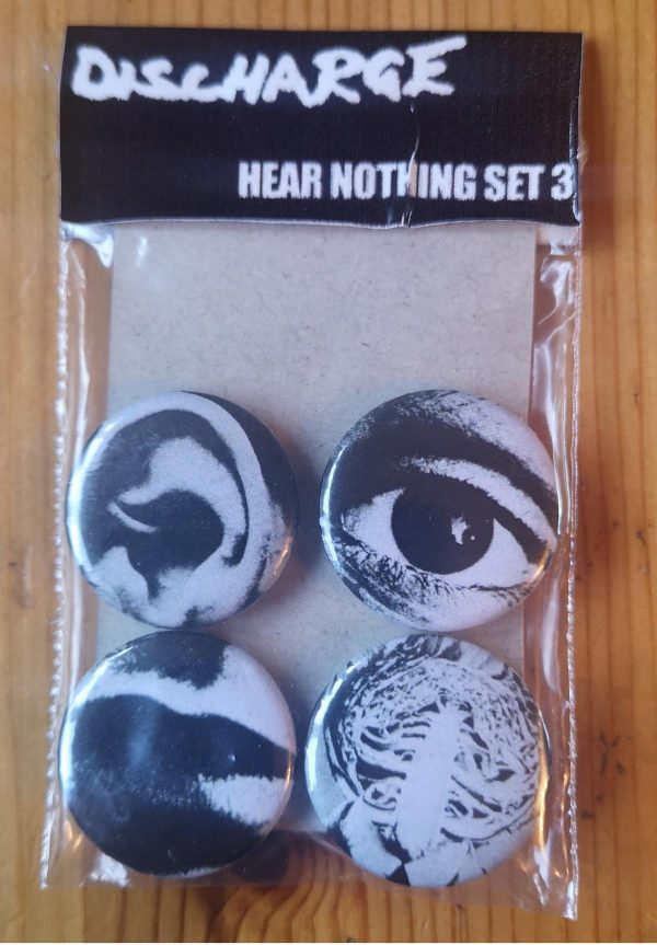 Discharge – Hear Nothing Set 2 Badge