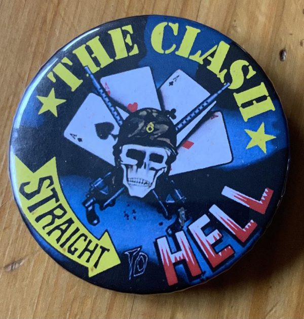 The Clash – Straight To Hell Binlid 52mm Badge
