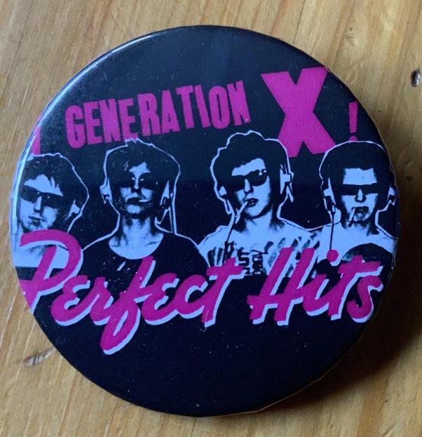 Generation X – Perfect Hits Binlid 52mm Badge